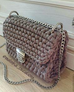Стильный вязаный клатч Cocoa Bag от Malinka_Creations