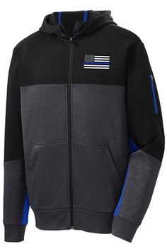 With contrast color detailing throughout, this double-knit jacket is right on trend with moisture-wicking performance...