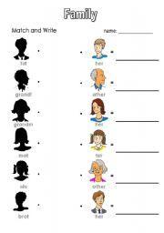 English Worksheets: Family