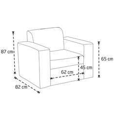 sofa chair measurements - Google Search