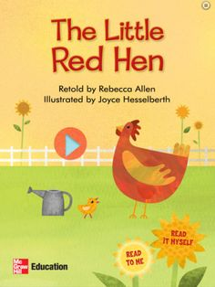 The Little Red Hen fable storybook app for iPad