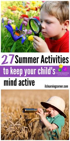 27 Summer Activities to Keep Your Child's Mind Active | ilslearningcorner...