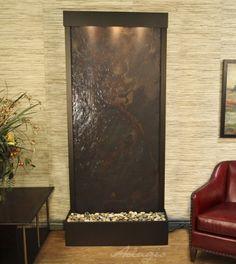 Indoor Floor Water Features - Tranquil River Lightweight Slate Floor Water Feature