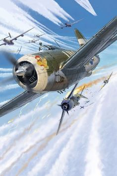 P-47D Thunderbolt vs Fw 190A, by Lucio Perinotto