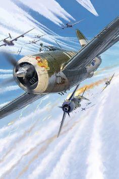 P-47D Thunderbolt vs Fw 190A, by Lucio Perinotto