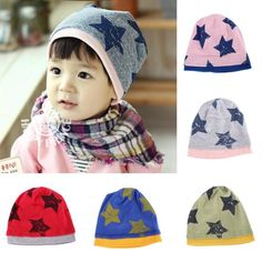 TOP Toddlers Soft Cotton Kids Beanie Hat Infants Baby 6M-2Y Cartoon Stars Cap High Quality #Affiliate