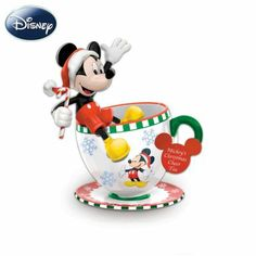Disney Mickey's Christmas Cheer Teacup Figurine - http://bradford-exchange.goshopinterest.com/collectibles/teacups-saucers/disney-mickeys-christmas-cheer-teacup-figurine/