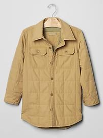 Quilted shirt jacket #gap