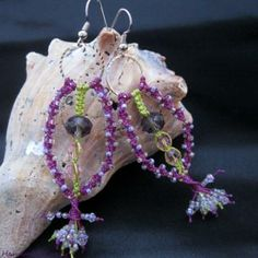Spring Bloom, macrame earrings. Idea photo only