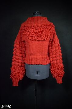 Griffin Alpaca Chunky Jumper. Handmade Multi-Textured. Warm, Soft and Cosy. by ZwitchZ on Etsy https://www.etsy.com/uk/listing/485089546/griffin-alpaca-chunky-jumper-handmade