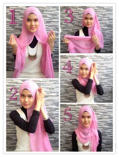 "<div class=""photoCaption"">Hijab Tutorial For Easy Hijab Styles! </div>"