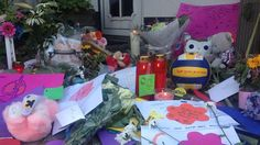 À shrine for a family of six from Neerkant who died in the MH17 crash.