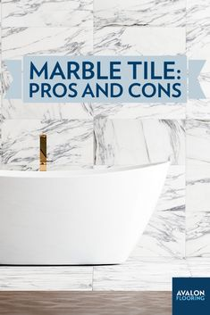 Marble tile has an everlasting appeal. It's at the top of natural stone flooring materials in the market, but like any material, there are advantages as well as disadvantages to keep in mind.