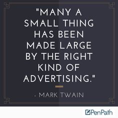 Advertising done right spins even the smallest of details into a platform for huge success! http://qoo.ly/dibmu