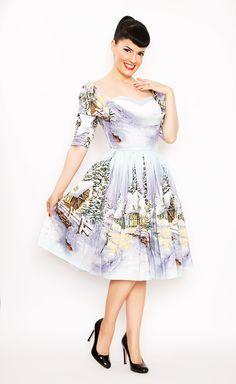 Bernie Dexter Jubilee Dress Winter Wonderland