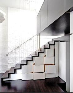 rangements sous escaliers