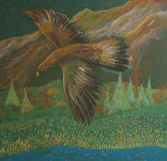 Waldorf ~ 4th grade ~ Human & Animal ~ Eagle ~ chalkboard drawing ~ http://www.waldorf-ideen-pool.de/index.php?aid=1873