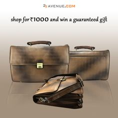 Plush leather office bags at 27avenue.com for upto 80% OFF! Don't forget...you get an assured gift on purchase of above Rs.1000! Coupon Code: DECFEST