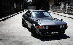 Other than the low offset, wide wheels and the TRD flares... this is just how I want my 73 Celica to turn out.