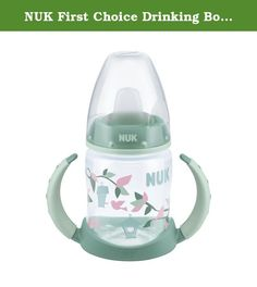 NUK First Choice Drinking Bottle PP 150ml with Soft Silicone Spout from 6-18 Months BPA-Free. NUK's Learner Bottle teaches babies to drink by themselves. It has a non-spill silicone spout and the trainer handles with anti slip grip are ideal for little hands . The 150ml plastic bottle comes with classic Mickey and Minnie Mouse designs in a red finish. The Learner Bottle is part of the NUK First Choice range which means the parts are all interchangeable with any other First Choice…