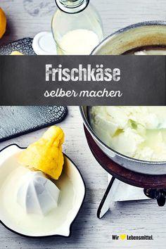 Frischkäse selber machen ist nicht schwer und mit frischen Kräutern oder Gewürzen bestimmst du die Sorte gleich selbst! #frischkäse #diy #selbermachen #edeka