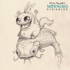 Catfish ride! #morningscribbles   Flickr - Photo Sharing!