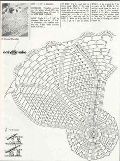 World Crochet Napkin 426 Thread Crochet, Crochet Crafts, Crochet Stitches, Fabric Crafts, Crochet Projects, Crochet Doily Diagram, Crochet Square Patterns, Crochet Shawl, Knitting Patterns