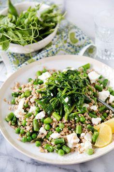 Spring Pea Farro Salad