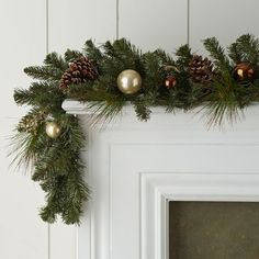 """$40 Gilded Faux Pine Garland - 6"""""""