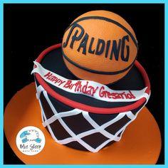 Basketball Net Birthday Cake