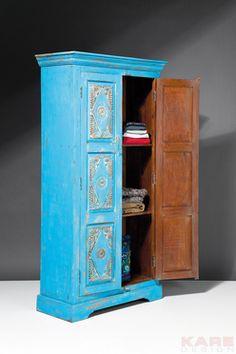 Taberna Wardrobe Blue 2 Doors   KARE - Der absolute Wohnsinn - Möbel, Leuchten, Wohnaccessoires und Geschenkartikel