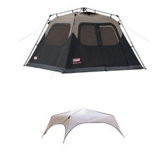 Coleman 6-Person Instant Cabin Tent and Coleman Instant Tent Rainfly Accessory