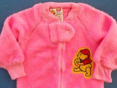 9e80d4fcde Vintage Baby NOS Walt Disney Winnie The Pooh Warm Pink Fleece Sleeper Sears  1T  DisneyWaltDisneyProductionsSears  OnePiece