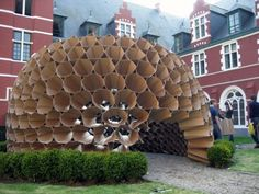 Component Based Cardboard Structure - The Panopticon Refuge
