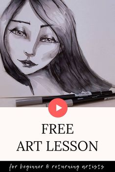 In this step by step drawing tutorial Mixed Media Faces, Mixed Media Artists, Karen Campbell, Bow Drawing, How To Shade, Online Art Classes, Toned Paper, Art Journal Techniques, Marker Art