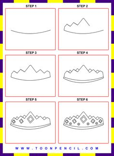how to draw a crown step by step for kids google search