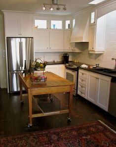 Traditional Kitchen Center Island Table With Shelf And Stretcher Also Having Skirt And Wheels As Well As Outdoor Kitchen Carts And Islands  Also Stainless Steel Cart On Wheels, Entrancing Kitchen Island With Wheels: Furniture, Kitchen
