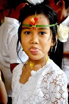 Photo cute little lady in  Bali
