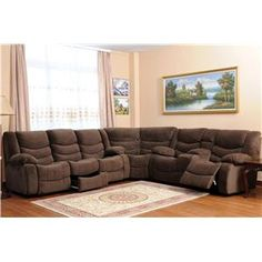 10092 Reclining Sectional Sofa With Storage and Console by World Imports - Wolf Furniture - Reclining Sectional Sofa Pennsylvania, Maryland