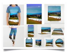 """Hay bales, clouds and some scenery"" by patrick-jobst ❤ liked on Polyvore featuring art"