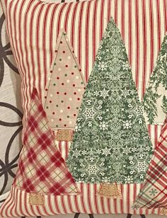 Christmas Tree Pillow Cover, Trees Pillow Cover, Farmhouse Christmas, Farmhouse Christmas Decor, Red Ticking Christmas Celebrate the Season with our Christmas Trees Pillow Cover featured from our 2017 Red Ticking Christmas Collection. Farmhouse Christmas Decor, Rustic Christmas, Christmas Fun, Christmas Ornaments, Christmas Cover, Modern Christmas, Christmas Quotes, Christmas Carol, White Christmas