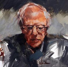 Bernie Sanders for president Painting Tips, Figure Painting, Social Democracy, Ap Drawing, Bernie Sanders For President, Drawings, Artist, 2016 Election, Weed