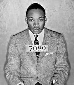 """MLK arrested in Birmingham, AL.  Where he wrote """"Letter from a Birmingham Jail""""."""
