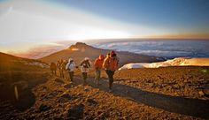 """Why Climb Mount Kilimanjaro? When climbing Mt. Kilimanjaro, there is no mistaking its beauty. At feet, Mount Kilimanjaro is the tallest freestanding mountain in the world. """"Breathtaking"""" hardly begins to describe the scene from cloud-cloaked Uhuru Peak Kilimanjaro Climb, Adventure Travel Companies, Mount Meru, Adventure Is Out There, Hiking Trails, Trekking, National Geographic, Climbing, Travel"""
