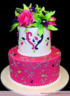 Vibrant colors on birthday cake