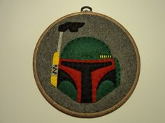 7inch Boba Fett Helmet (no battle damage) Embroidery Hoop