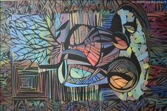 """Купить Натюрморт """" Орнамент"""" - декоративный натюрморт, холст на подрамнике, масляная живопись, орнамент"""