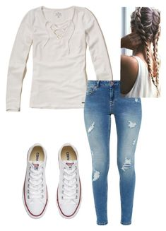 """""""Untitled #3"""" by allygleavy12 on Polyvore featuring Hollister Co., Ted Baker and Converse"""