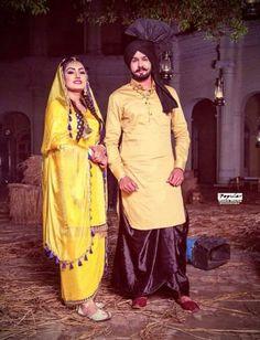 Kurta Pajama Punjabi, Punjabi Suits, Anmol Gagan Maan, Punjabi Couple, Suit Accessories, Bridal Looks, Couple Goals, Wedding Photos, Sweet Couples