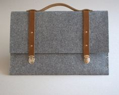 MacBook Pro 13 sleeve grey case felt briefcase with by SleeWay, $79.00